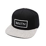 [브릭스톤]BRIXTON - RIFT SNAPBACK 116-00034-0137 (BLACK/LIGHT HEATHER GREY) 스냅백 모자