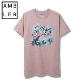 [엠블러]AMBLER 신상 반팔티셔츠 AS301-다크핑크
