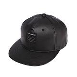 [세븐틴스]SEVENTEENTH - SNAPBACK LABEL LEATHER BLACK 스냅백 모자