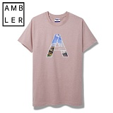 [엠블러]AMBLER 신상 반팔 티셔츠 AS304-다크핑크