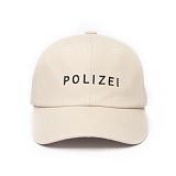 [티엔피]TNP - POLIZEI 6 panel Hat - BEIGE 야구모자 볼캡 베이지