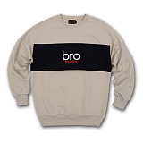 [AUB]에이유비 - BRO_SWEAT_BEIGE 브로 크루넥 스��셔츠 맨투맨 베이지