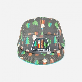 [모쿠요비]MOKUYOBI - 5 PANEL CAMP CAP (HELLO WORLD) 캠프캡