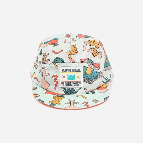 [모쿠요비]MOKUYOBI - 5 PANEL CAMP CAP (TEA PARTY) 캠프캡