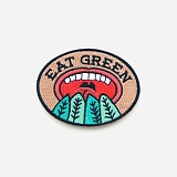 IRON-ON PATCHES (EAT GREEN)