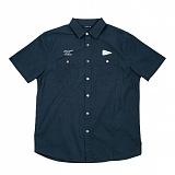 [폴러스터프]POLER STUFF - S/S Yakow Shirt (Heavy Poplin Solid Blue Steel)