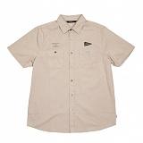 [폴러스터프]POLER STUFF - S/S Yakow Shirt (Heavy Poplin Solid Khaki)