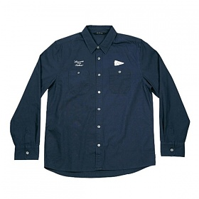 ※[폴러스터프]POLER STUFF - L/S Yakow Shirt (Heavy Poplin Solid Blue Steel)