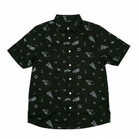 ※[폴러스터프]POLER STUFF - S/S Wheelie Shirt (Black Wheelie)