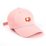 슈퍼비젼 - 1LOVE BALL CAP BABYPINK - [POP] 모자 볼캡 야구모자