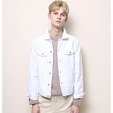[게버딘] GABARDINE - Normal Denim Jacket (White)_데님자켓 아우터