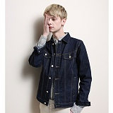 [게버딘] GABARDINE - Normal Denim Jacket (Dark Blue)_데님자켓 아우터