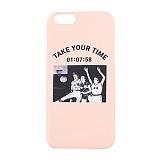 [앤커버] NCOVER - Take your time-Pink Iphone case_핸드폰케이스 아이폰케이스