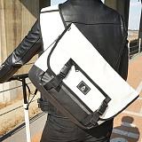 [에이비로드] ABROAD - [PREMIUM]Smart Messenger Bag (white)_ 프리미엄라인 메신저백 메신져백 메쉬 가죽 화이트