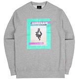 [언더에어]UNDER AIR - Peculiar Boy Sweat Shirt - Gray 맨투맨 그레이