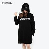 [레이쿠] reiku original hood dress one-piece black 후드 박스 원피스