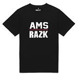 [라지크] RAZK - AMS T-SHIRT (BLACK) 반팔 반팔티 티셔츠