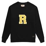 [라지크] RAZK - R Big Logo Crewneck (BLACK) 기모 맨투맨 크루넥 기모맨투맨 기모 맨투맨