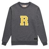 [라지크] RAZK - R Big Logo Crewneck (CHARCOAL) 기모 맨투맨 크루넥 기모맨투맨 기모 맨투맨