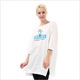 [펄문] PEARLMOON 튜닉 TUNIC-T blue icecream 티셔츠