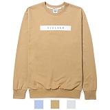 [리오그램] REOGRAMLINE LOGO MTM T-SHIRTS  라인 로고 맨투맨 티셔츠 (Beige) 크루넥 스��셔츠B6
