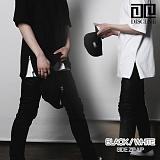[DISCENE] 디씬 무지 옆지퍼 레이어드 오버핏 반팔 티셔츠 2COLOR
