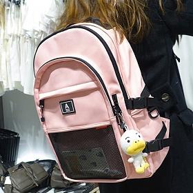 [에이비로드] ABROAD - Crazy Backpack (baby pink)_ 크레이지 백팩 학생가방 가방 베이비핑크