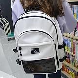 [복 EVENT][에이비로드] ABROAD - Crazy Backpack (white)_ 크레이지 백팩 학생가방 가방 화이트