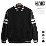 [뉴비스] NUVIIS - 74  레더 스타디움 점퍼 (NE010JP) 야구잠바