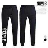 [뉴비스] NUVIIS - 스테이플 프린팅 조거팬츠 (CC023LPT) 긴바지 트레이닝팬츠