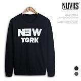 [뉴비스] NUVIIS - 뉴욕 맨투맨 티셔츠(ZA016MT) 스웨트셔츠 크루넥