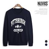 [뉴비스] NUVIIS - 피치버그 맨투맨 티셔츠(ZA011MT) 스웨트셔츠 크루넥
