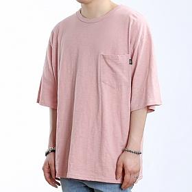 [쟈니웨스트] JHONNYWEST - Wide Slub Pocke-T (Indi Pink) 반팔 반팔티 티셔츠