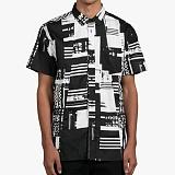 [도프]DOPE Glitch S/S Button-Up (Black/White) 반팔남방 셔츠