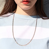 [러쉬오프]RUSH OFF - (UNISEX )THE BASIC SILVER CHAIN NECKLACE/베이직 실버체인 목걸이