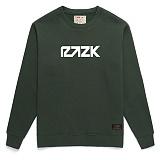 [라지크] RAZK - Razk Crewneck (D.GREEN) 기모 맨투맨 크루넥 스��셔츠 기모맨투맨 기모 맨투맨