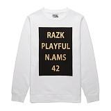 [라지크] RAZK - PLAYFUL CREWNECK (WHITE) 기모 맨투맨 크루넥 스��셔츠 티셔츠