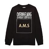 [라지크] RAZK - A.M.S CREWNECK (BLACK) 기모 맨투맨 크루넥 티셔츠 기모맨투맨 기모 맨투맨