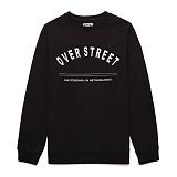 [라지크] RAZK - OVER ST CREWNECK (BLACK) 기모 맨투맨 크루넥 스��셔츠 티셔츠