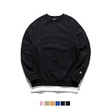 [어커버]ACOVER - Layered Sweat Shirts 레이어드 맨투맨 크루넥 스웨트셔츠 레이어드맨투맨