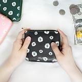 [디랩]D.LAB - Flower zipper wallet - 3color 지퍼지갑 지퍼반지갑 지갑
