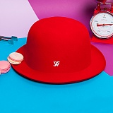 [화이트샌즈]WHITE SANDS -  MACARON HAT Red WS15-140PM13 마카롱 페도라 햇