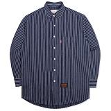 [언더에어]UNDER AIR - Oversize Double Chain - Navy 셔츠 남방