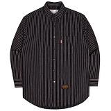 [언더에어]UNDER AIR Oversize Double Chain - Black 셔츠 남방