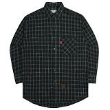[언더에어] UNDER AIR Oversize Tile Check Shirts - Gray 셔츠 남방