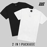 [유니어패럴] UNIAPPAREL 베이직 라운드 반팔티 2 in 1 Package
