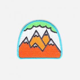 [모쿠요비]MOKUYOBI -IRON-ON PATCHES (NEON MOUNTAINS) 와펜