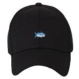 [포레스트레이크]Forest Lake - Letter a rell SMALL FISH black 볼캡 야구모자