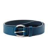 토키오 지브라 패턴 레더 벨트 (블루)