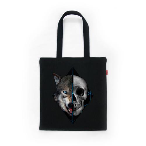 [상상] WOLF & SKULL 03_BKB 토트 숄더 에코백